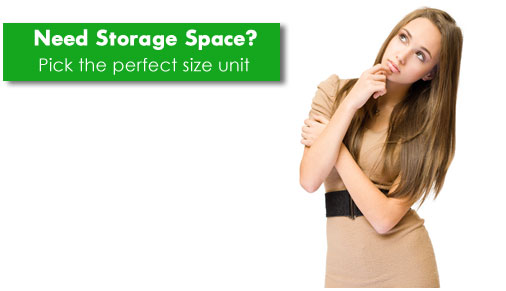 Pick the right size storage unit